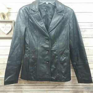 Avanti Leather Coat Jacket Sz S